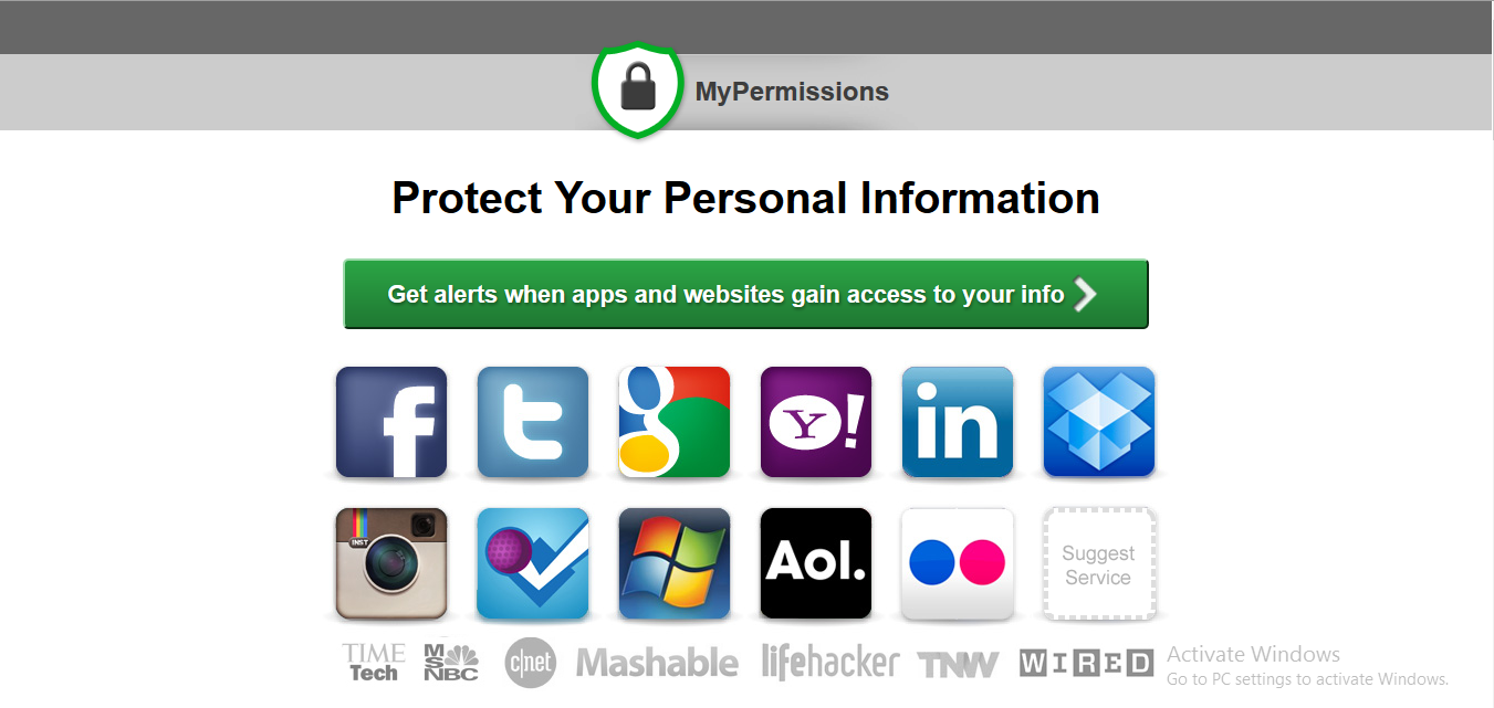 MyPermissions Homepage