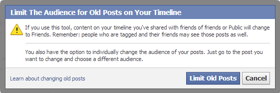 Facebook-Limit old posts