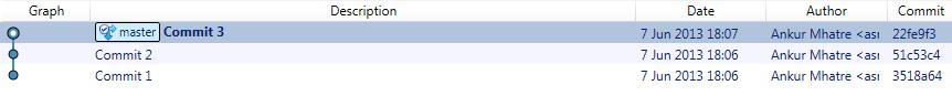 Git Commits Screenshot