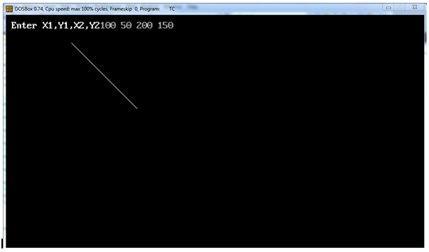Line Drawing In C : C program to implement dda line drawing algorithm