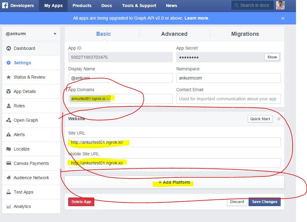 Using Localhost For Facebook App Development